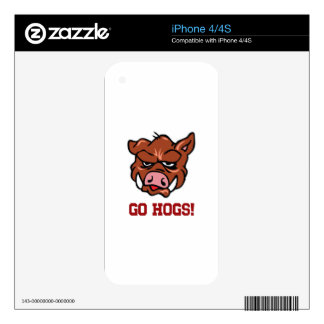 Go Hogs! Decal For iPhone 4