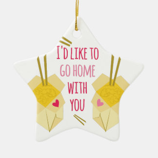 Go Home With You Double-Sided Star Ceramic Christmas Ornament
