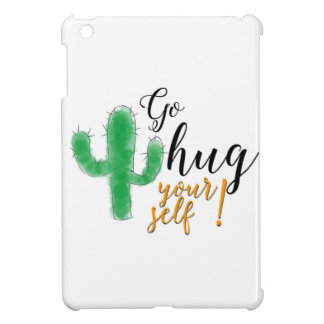 """Go hug yourself"" with thorny green cactus iPad Mini Cover"