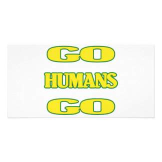 Go Humans Go (green/gold) Card