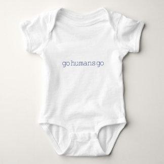 Go Humans Go (simple) Baby Bodysuit
