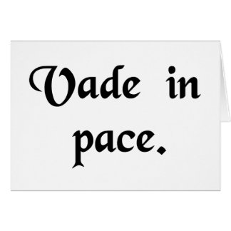 Go in peace. card