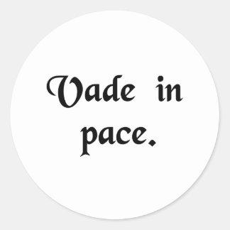 Go in peace. classic round sticker