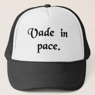 Go in peace. trucker hat
