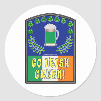 Go Irish Green Classic Round Sticker