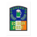Go Irish Green Large Business Card