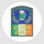 Go Irish Green Stickers