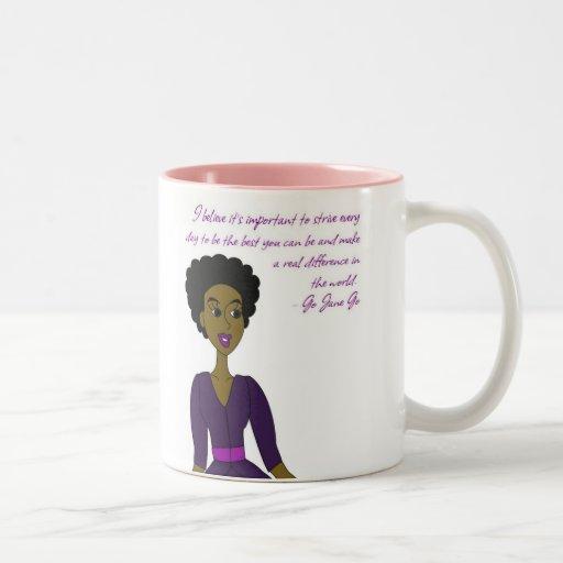 Go Jane Go Two-Tone Coffee Mug