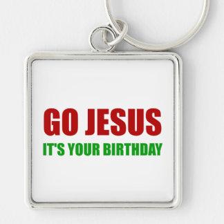Go Jesus Christmas Birthday Keychain