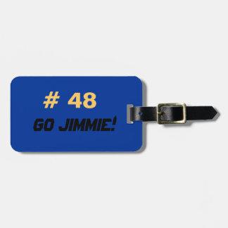 Go Jimmie luggage tag