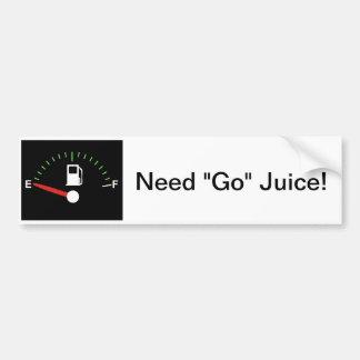 Go juice bumper sticker car bumper sticker