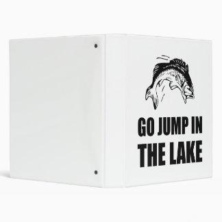 Go Jump In Lake Vinyl Binders