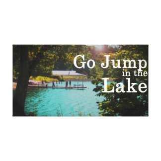 Go Jump in the Lake, photography by Lisa Casineau Canvas Print