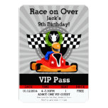 GO KART Birthday invitation!