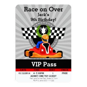 Go Kart Invitations Zazzle