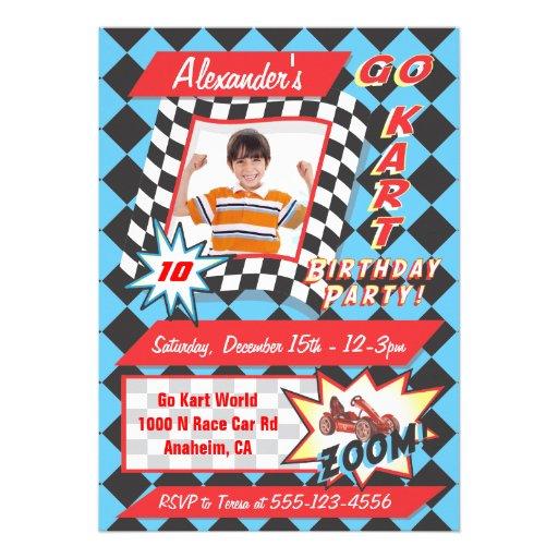 Personalized Go kart Invitations CustomInvitations4Ucom