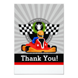 GO KART Birthday Party Thank You cards