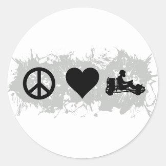 Go kart classic round sticker