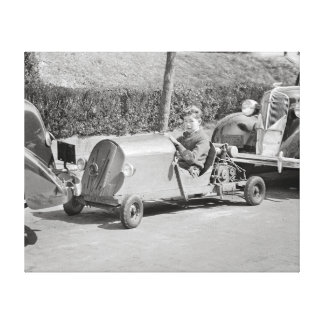 Go Kart Driver, 1937 Canvas Print