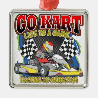 Go Kart Life Metal Ornament