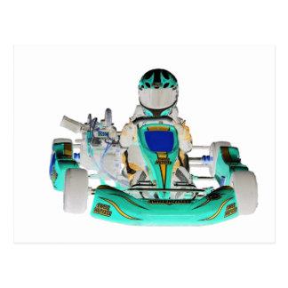 Go Kart Racer Inverted Color Postcards