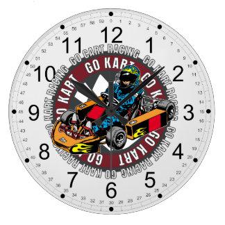 Go Kart Racing Clocks