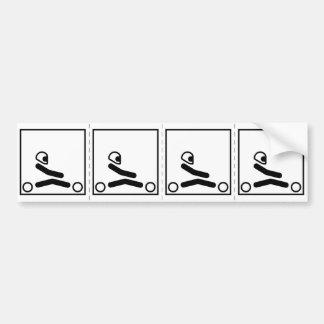 Go Kart Racing Figure Bumper Sticker