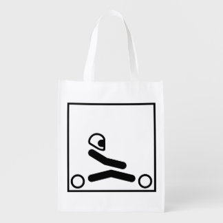 Go Kart Racing Figure Grocery Bag