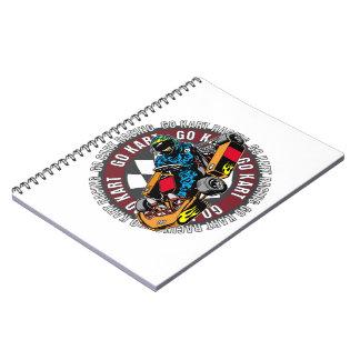 Go Kart Racing Spiral Note Book