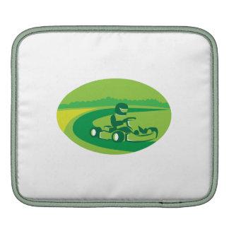 Go Kart Racing Oval Retro iPad Sleeve