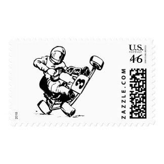 Go Kart Racing Postage Stamp