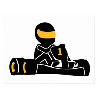 Go Kart racing Postcards