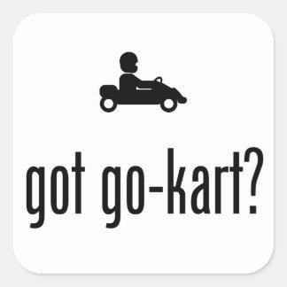 Go-Kart Square Sticker