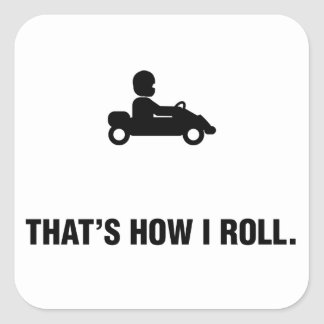 Go-Kart Square Sticker