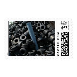 Go Kart Tires Postage Stamp