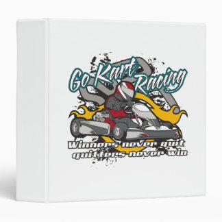 Go Kart Winners 3 Ring Binder