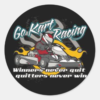 Go Kart Winners Classic Round Sticker