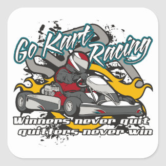 Go Kart Winners Square Sticker
