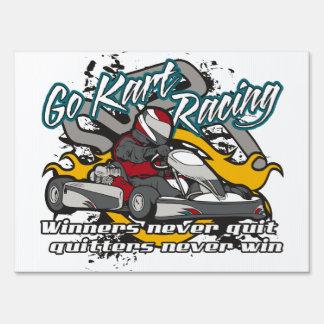 Go Kart Winners Yard Sign