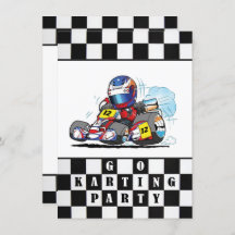 Go-Kart /'Indoor Race/' Theme *Printable Kids Birthday Invitation* Go Kart Invitation  Go-Cart Invitation  Racing Party Invite  Boys Party
