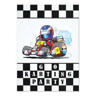 Go Kart Invitations Announcements Zazzle