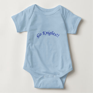 Go Knights! Curved Blue Text Blue Baby Bodysuit