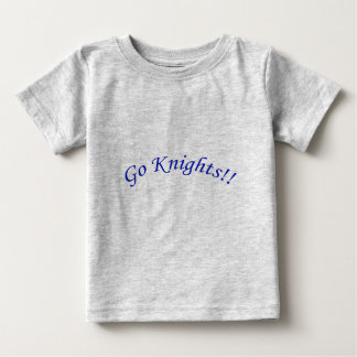 Go Knights! Curved Blue Text Silver Shirt Infant