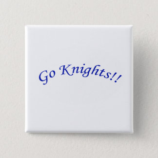 Go Knights! Curved Blue Text Square Button