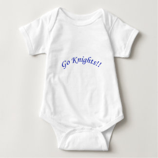 Go Knights! Curved Blue Text White Baby Bodysuit