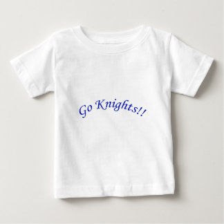 Go Knights! Curved Blue Text White Shirt Infant