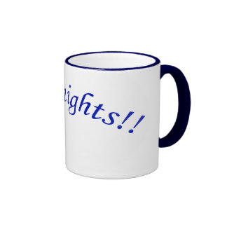 Go Knights! Curved BlueText NavyBlue Ringer Mug II