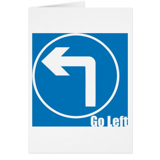 go left greeting card