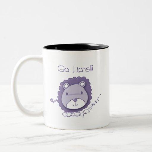 Go Lions! Two-Tone Coffee Mug