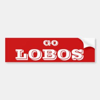 Go Lobos* Bumper Sticker